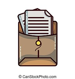 file folder with business document information