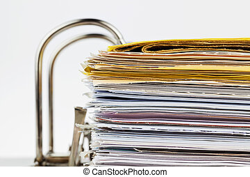 File folder with documents and documents - A file folder ...