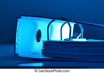 file folder with documents and documents
