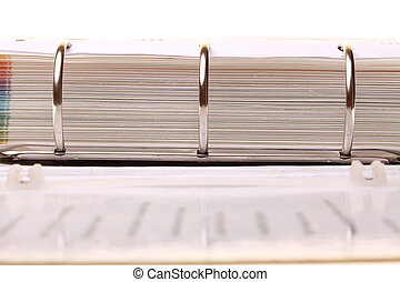 file folder with documents and papers