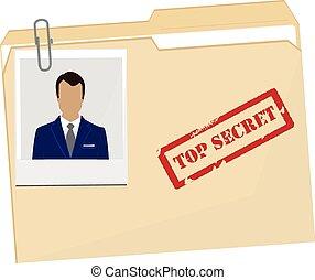 File folder with photo - Vector illustration file folder...