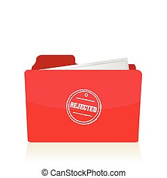 file folder with rejected documents