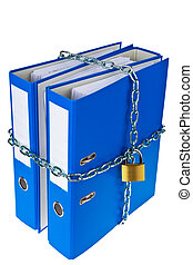 file folders locked with chain - a file folder with chain...