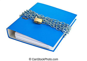 file folders locked with chain