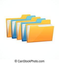 File Folders Set. Vector