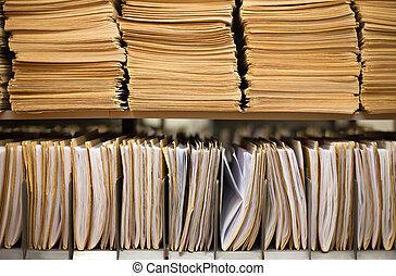 File folders - Shelf with file folders in a archives