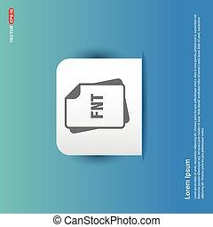 file format icon. - Blue Sticker button
