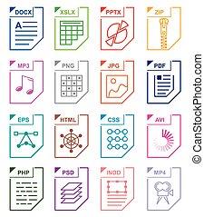 File format set icons