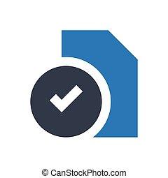 file  glyph flat icon