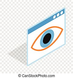 File hide isometric icon