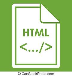 File HTML icon green