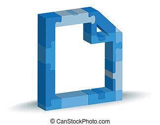 file icon in puzzle