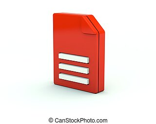 File icon. Red series