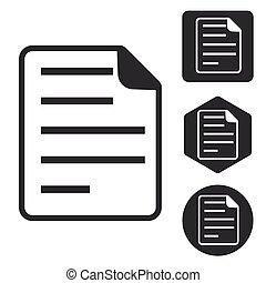 File icon set, monochrome