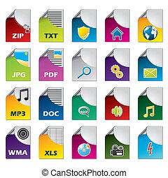 File icon set of twenty
