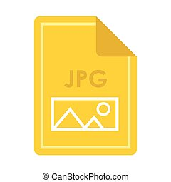 File JPG icon, flat style - File JPG icon in flat style...
