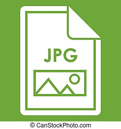 File JPG icon green
