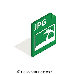 File JPG icon, isometric 3d style