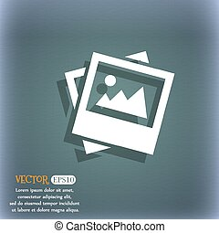 File JPG icon. On the blue-green abstract background with shadow and space for your text. Vector