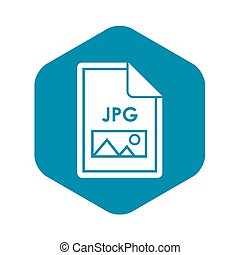 File JPG icon, simple style