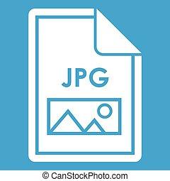 File JPG icon white