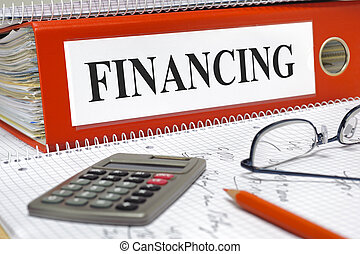 financing - file marked with financing