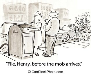 File mob - man must file taxes in hurry