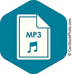 File MP3 icon, simple style