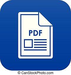 File PDF icon digital blue