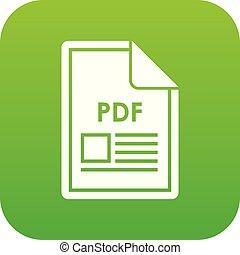 File PDF icon digital green