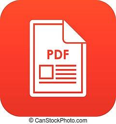 File PDF icon digital red
