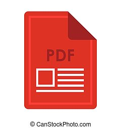 File PDF icon, flat style