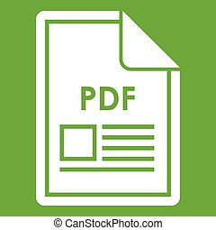 File PDF icon green