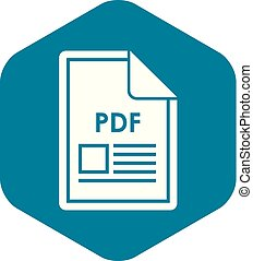 File PDF icon, simple style
