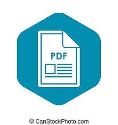 File PDF icon, simple style