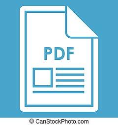 File PDF icon white