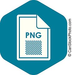 File PNG icon, simple style