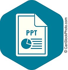 File PPT icon, simple style