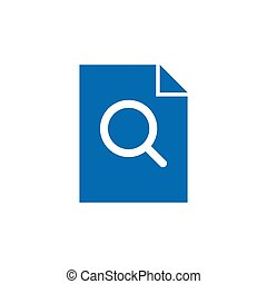 file search vector icon concept