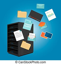 file server data such as document image video email folder