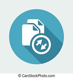 File sharing - Flat minimal icon