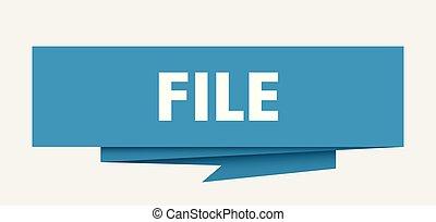 file sign. file paper origami speech bubble. file tag. file...