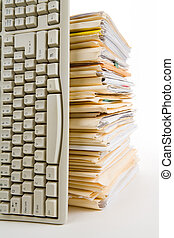 File Stack and Computer Keyboard