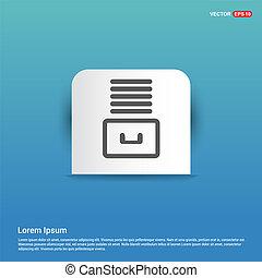 File Stack Icon - Blue Sticker button