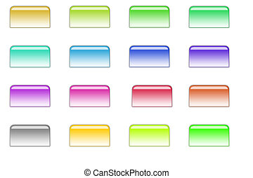 File style buttons 01 - Bunch of colorful file buttons