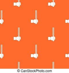 File tool in man head pattern seamless
