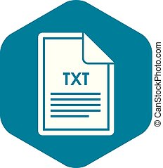 File TXT icon, simple style - File TXT icon in simple style ...