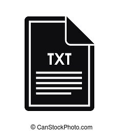 File TXT icon, simple style