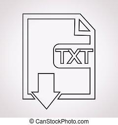 File type TXT icon
