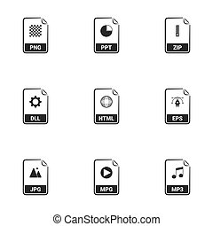 File Types icons.White background